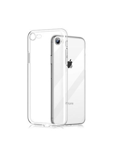 Mopal Iphone 7 / 8 / Se Tıpalı Silikon Kılıf - Şeffaf Renkli